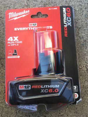 Milwaukee 6.0 battery (12M) for Sale in Glendale, AZ