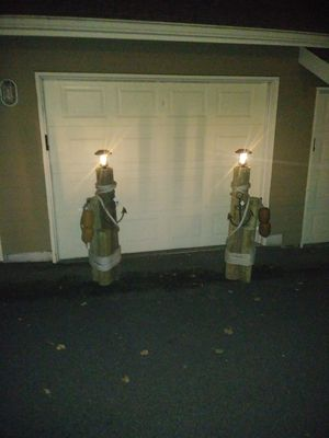 Nautical piling decor with solar lights for Sale in Puyallup, WA