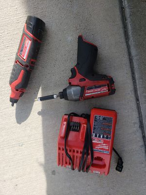 milwaukee power tools impact driver and hand dremel plus battery and charger for Sale in South Salt Lake, UT