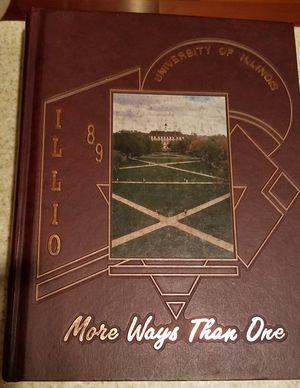 1989 Illio Yearbook U of I for Sale in Algonquin, IL