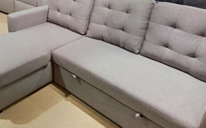 Price Online‼️Gray Reversible Storage Sleeper Sectional Sofa • Delivery • Assembly • FREE Financing ‼️Same as cash for Sale in Las Vegas,  NV
