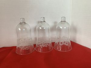 Home Interiors Christmas Themed Glass Votive Sconces Candle Holders Cups for Sale in Riverside, CA