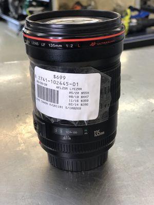 Canon 135mm f/2 lens for Sale in Murfreesboro, TN