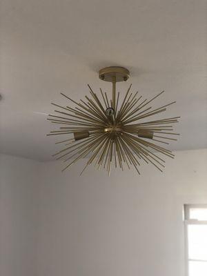 20 Inch Astra Sputnik Semi Flush Mount Lamp Gold Spike Starburst Light Mid Century for Sale in San Diego, CA