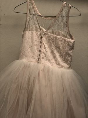 Plush pink flower girl dress size 8 selling fo 80.00 for Sale in Raleigh, NC