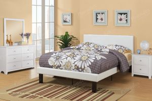 Brand new white or brown leather full size bed frame + mattress for Sale in San Diego, CA