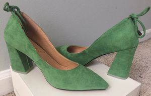 Style &Co suede green heels sz 7 for Sale in Dunwoody, GA