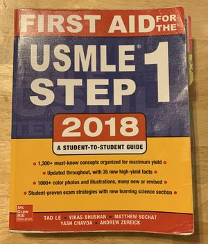 First Aid for the USMLE Step 1 for Sale in Etiwanda, CA