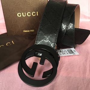 Gucci Black Imprime Belt 95/38 + More Sizes Available for Sale in Brooklyn, NY