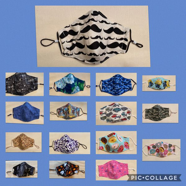 Cotton Face Coverings Masks