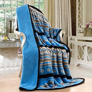 Throw size native design blanket brand new Sherpa quality for Sale in Salem, OR