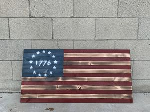 1776 Rustic American Flag - Christmas Sale for Sale in El Monte, CA