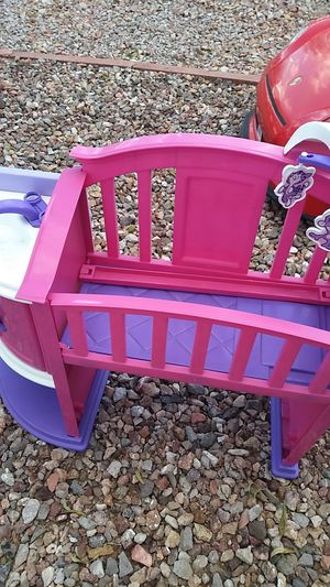 Baby changing table, fun size washer with ironing board and vacuum, and baby nursery for Sale in North Las Vegas, NV