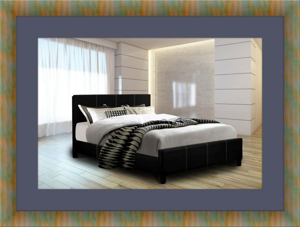 Twin platform bed with mattress