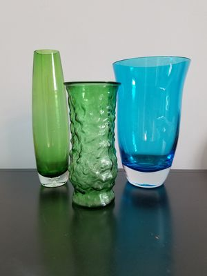 Lot of 3 Tall Glass Vases for Sale in St. Louis, MO