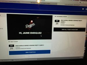 Viewing Party @ Dodger Stadium Sunday Game 5 ! for Sale in Downey, CA