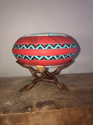Aztec wood carved decor for Sale in Wichita, KS