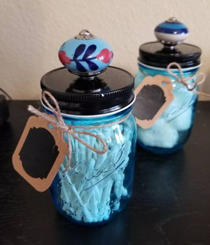 Baby, birthday or wedding jars with knobs for Sale in Orlando, FL