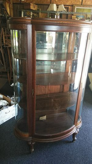 Antique oak round China closet for Sale in Milford, MA