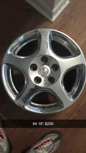 Set Of 16 inch Lexus Chrome Rims (4) for Sale in Jonesboro, GA