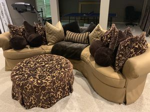 Custom Couch and Ottoman for Sale in Dunwoody, GA