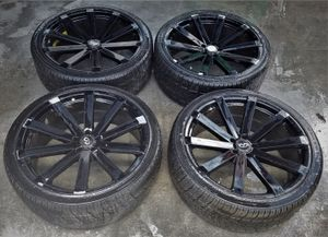 """2009 INFINITI FX35 22"""" INCH WHEELS RIMS WITH TIRES SUV for Sale in Fort Lauderdale, FL"""