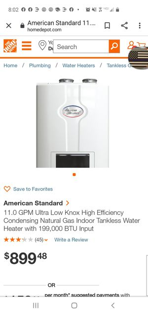 Tankless water heater brand new for Sale in Dundalk, MD