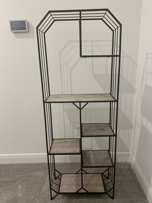 Large metal and wood shelving unit for Sale in Winter Park, FL