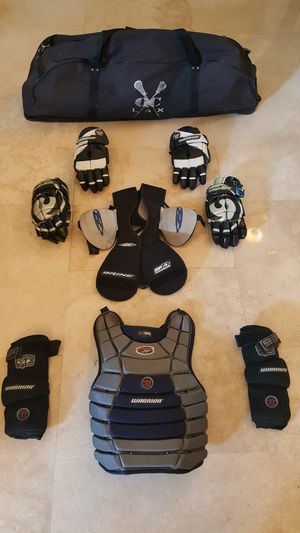 LaCrosse 9-Piece Protective Gear and XL gear bag for Sale in Miami, FL