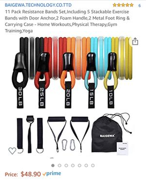 Exercise band set for Sale in Riverside, CA