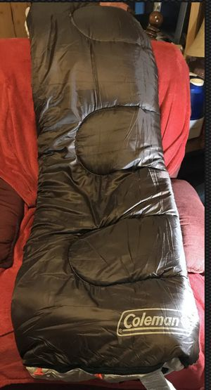 New, Never Used, Coleman Montauk Sleeping Bag Brown and Tan for Sale in Knightdale, NC