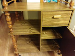 Kitchen cart rolling island stand storage for Sale in Oak Lawn, IL