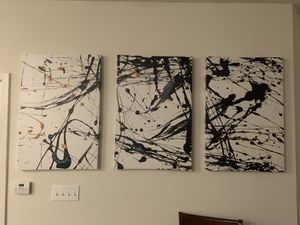 3 piece abstract art for Sale in Tampa, FL