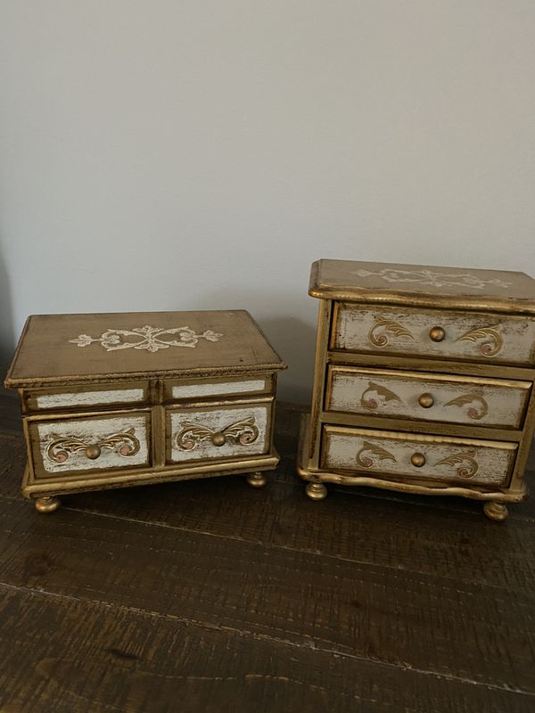 Two Antique jewelry Box