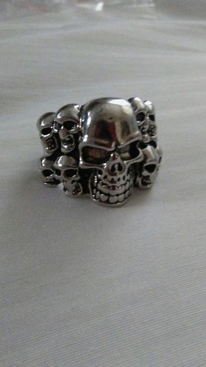 9 Skulls Stainless Steel ring for Sale in Orlando, FL