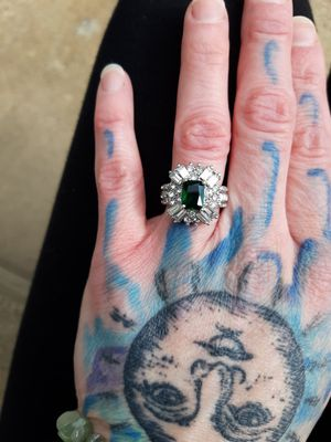 Emerald and Cubic Zirconia Ring for Sale in Palo, IA