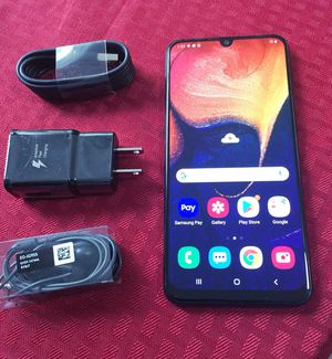 """Samsung Galaxy A50 64GB,, """"Factory Unlocked Condition Excellent"""" (Like Almost New) """"""""Triple Rear Camera: 25 MP, f/1.7, PDAF; 8 MP, f/2.2, ultrawide"""""""" for Sale in Springfield, VA"""