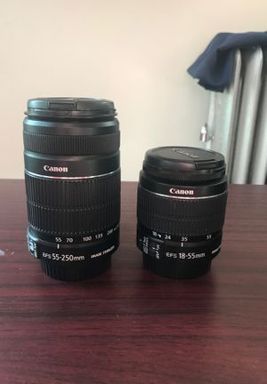 Cannon Camera Lens (set of 2) for Sale in Queens, NY