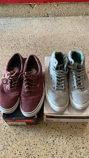Vans Shoes 11 (Both Pairs) for Sale in Corona, CA