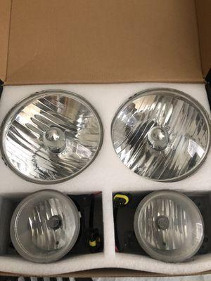 Jeep Wrangler OEM headlights and fog lights for Sale in Murfreesboro, TN