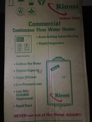 Commercial Rinnai Continuous flow water heater for Sale in Raccoon Ford, VA