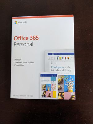 Microsoft Office 365 Personal 12-Month Subscription (PC & Mac) for Sale in San Antonio, TX