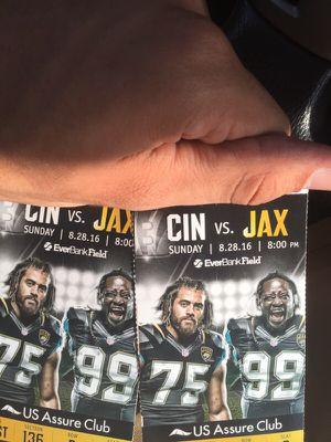 JAGS CLUB SEATS JAX VS BENGALS for Sale in Jacksonville, FL