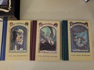A Series of Unfortunate Events Books 1,2,3 book set 3 books new for Sale in Fort Pierce, FL