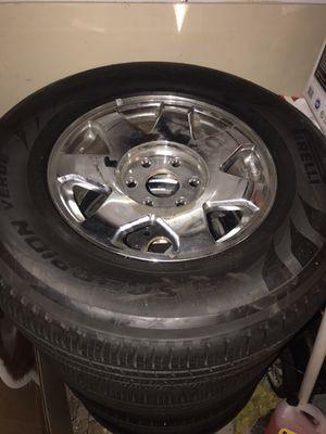 Escalade rims and tires set of 4 for Sale in Manassas, VA