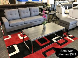 New beautiful sofa with ottoman for Sale in Fresno, CA