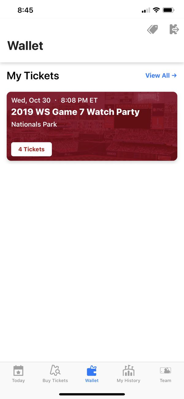 2019 World Series Game 7 Watch Party Tickets 10/30/2019 8:08 PM