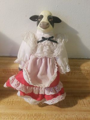 Porcelain Cow Doll for Sale in FOSTER FALLS, VA