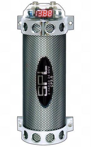 Power Acoustik SPL CP2.0 2-FARAD Digital Car Audio Power Capacitor LED Cap CP20 for Sale in Dumfries, VA