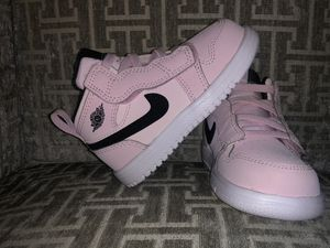 Air Jordan 1 Mid Alt (TD) (Pink/White/Black Glitter)Sz 6C for Sale in Kissimmee, FL